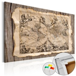 Decorative Pinboard  Map of the Past [Cork Map]