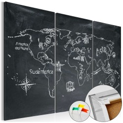 Decorative Pinboard  Geography lesson [Cork Map]