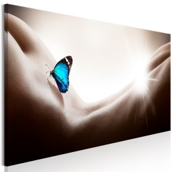 Canvas Print  Woman and Butterfly (1 Part) Narrow