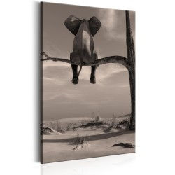 Canvas Print  Elephant in the Desert