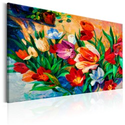 Canvas Print  Art of Colours Tulips