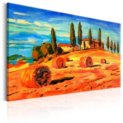 Canvas Print  August in Tuscany