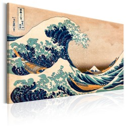 Canvas Print  The Great Wave off Kanagawa (Reproduction)