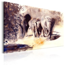 Canvas Print  Watercolour Elephants