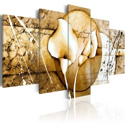 Canvas Print  The Secret of Calla Lily  Beige
