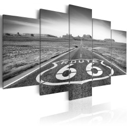 Canvas Print  Route 66  black and white