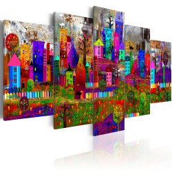 Canvas Print  The City of Expression