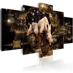 Canvas Print  Golden Rhino
