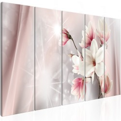 Canvas Print  Dazzling Magnolias (5 Parts) Narrow
