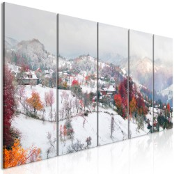Canvas Print  First Snow (5 Parts) Narrow