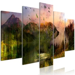 Canvas Print  Bear in the Mountain (5 Parts) Wide