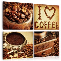 Canvas Print  Coffee  Pleasant Moments