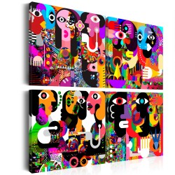 Canvas Print  Abstract Conversations