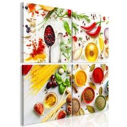 Canvas Print  Spices of the World (4 Parts)