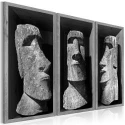 Canvas Print  The Mystery of Easter Island