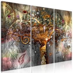 Canvas Print  Golden Tree (3 Parts)