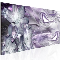 Canvas Print  Lilies and Waves (1 Part) Narrow Pale Violet