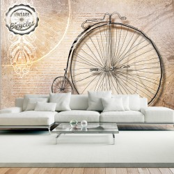 Wallpaper  Vintage bicycles  sepia