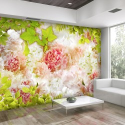 Wallpaper  Bright peonies