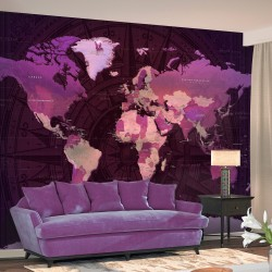 Wallpaper  Purple World Map