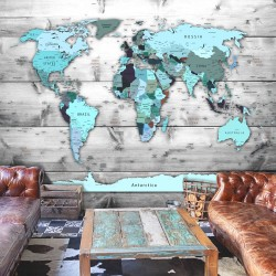 Wallpaper  World Map Blue Continents