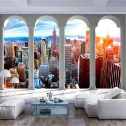 Wallpaper  Pillars and New York
