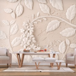 Wallpaper  Paper Flowers (Beige)