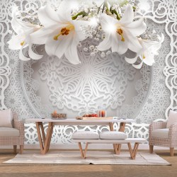 Wallpaper  Lilies and Ornaments