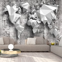 Wallpaper  World Map Origami