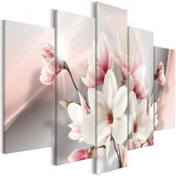 Canvas Print  Magnolia in Bloom (5 Parts) Wide