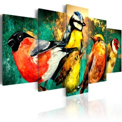 Canvas Print  Birds Meeting