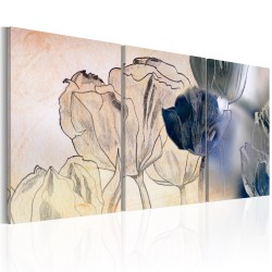 Canvas Print  Sketch of Tulips