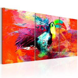 Canvas Print  Colourful Toucan