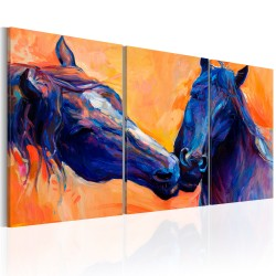 Canvas Print  Blue Horses