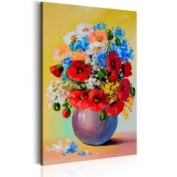 Canvas Print  Bunch of Wildflowers