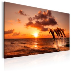 Canvas Print  The Dolphins Dance