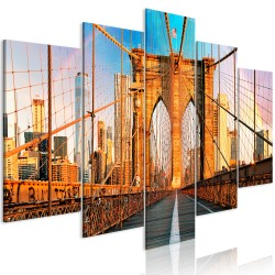 Canvas Print  Bridge to Happiness (5 Parts) Wide