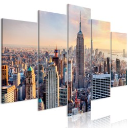 Canvas Print  Sunny Metropolis (5 Parts) Wide