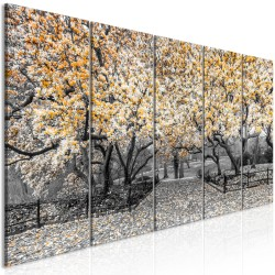 Canvas Print  Magnolia Park (5 Parts) Narrow Orange