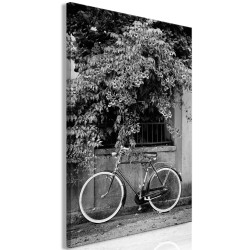 Canvas Print  Bicycle and Flowers (1 Part) Vertical