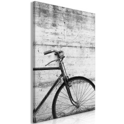 Canvas Print  Bicycle And Concrete (1 Part) Vertical