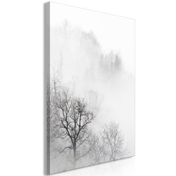 Canvas Print  Trees In The Fog (1 Part) Vertical