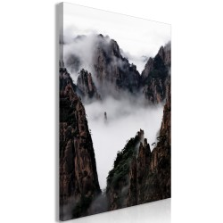 Canvas Print  Fog Over Huang Shan (1 Part) Vertical