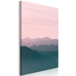Canvas Print  Mountain At Sunrise (1 Part) Vertical