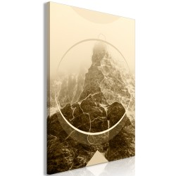 Canvas Print  Power of the Mountains (1 Part) Vertical