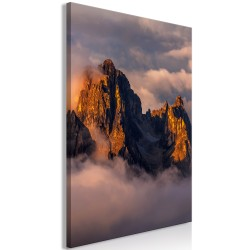 Canvas Print  Mountains in the Clouds (1 Part) Vertical