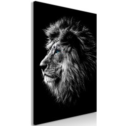 Canvas Print  Blueeyed Lion (1 Part) Vertical