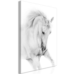 Canvas Print  White Horse (1 Part) Vertical