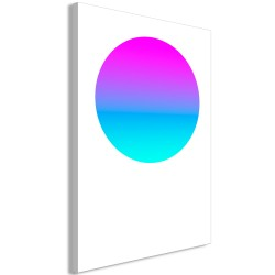 Canvas Print  Colourful Circle (1 Part) Vertical