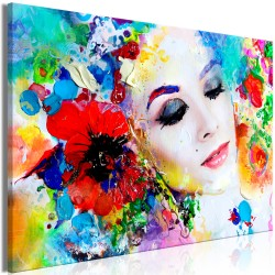 Canvas Print  Colourful Thoughts (1 Part) Wide